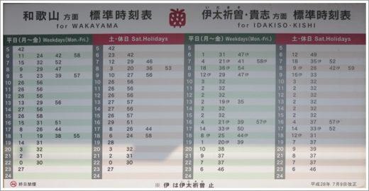 神前駅時刻表