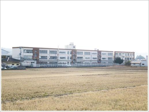 田んぼの中の学校