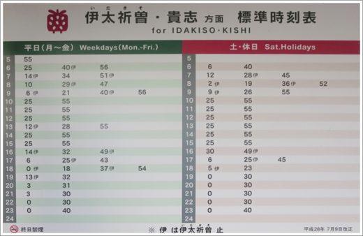 和歌山駅時刻表