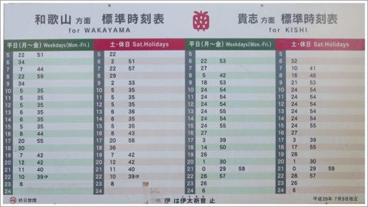 甘露寺駅の時刻表