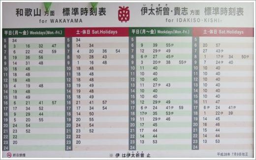 吉礼駅時刻表