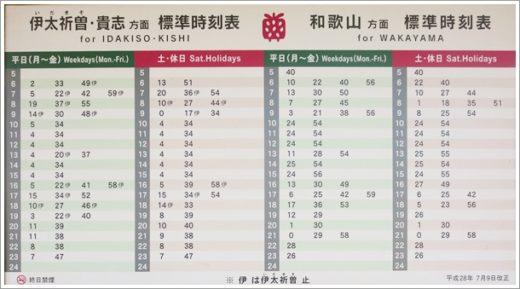 竈山駅時刻表