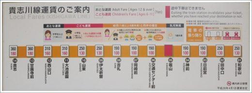 竈山駅運賃表